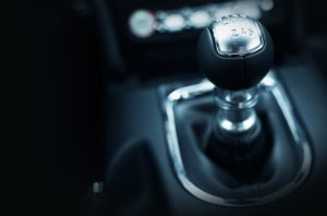 stick shift closeup to compare automatic vs manual transmission